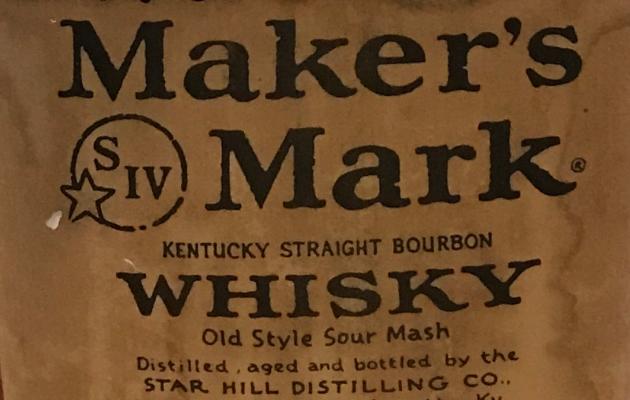 Vecchie bottiglie bourbon